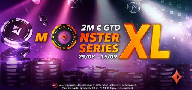 Les Monster Series font leur retour sur partypoker du 29 août au 15 septembre 2021